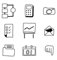hand drawing web icon vector image vector image