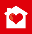 heart home design vector image
