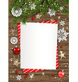 holiday card christmas frame vector image vector image