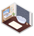 hot tub bathroom interior vector image
