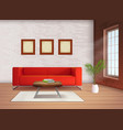 interior realistic image vector image