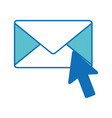 isolated envelope design vector image