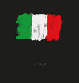 italy colorful brush strokes painted national vector image vector image