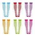 knee-length socks vector image vector image