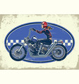 lady biker ride chopper motorcycles with vintage vector image vector image