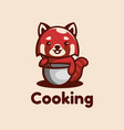 logo cooking simple mascot style