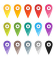 map pin color sign vector image vector image