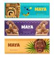 maya civilization horizontal banners vector image vector image