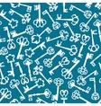 Medieval vintage keys seamless pattern vector image vector image