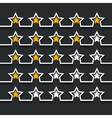 modern stars rating set on black vector image
