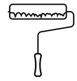 paint roller icon vector image vector image