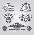 paintball labels sport badges active games with vector image vector image