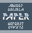 paper alphabet of paper folding vector image vector image