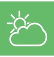 Partly Cloudy vector image vector image
