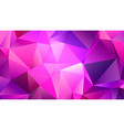 pastel pink shining crystal low poly backdrop vector image