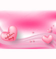 pink valentines day with hearts on pink vector image vector image
