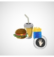 set of fast food drink burger fries vector image vector image