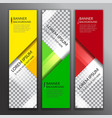set of vertical abstract colorful display banner vector image vector image