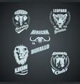 set vintage african wild animal logos vector image vector image