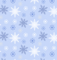 Snowflake seamless pattern blue background vector image vector image