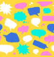 speech bubble seamless pattern in linocut style vector image vector image