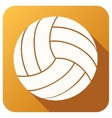 Sport icon with volleyball ball in flat style vector image