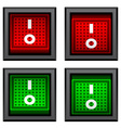 square toggle power switches vector image vector image