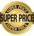 Super price golden label vector image