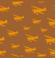 tile vintage biplanes vector image vector image
