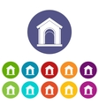 Toy house set icons vector image vector image