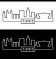 tunis skyline linear style editable file vector image vector image