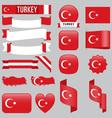 Turkey flags vector image