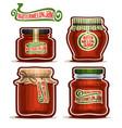 watermelon jam in jars vector image vector image