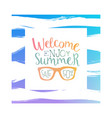 welcome enjoy summer sale poster banner card vector image vector image