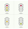 Abstract background with traffic lights vector image