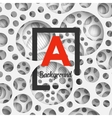 Abstract background holey wall with penetrating vector image vector image