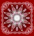 abstract mandala shape in guillloche design white vector image vector image
