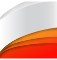 Abstract wave orange background 002 vector image vector image