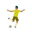 african american football player kick ball vector image vector image