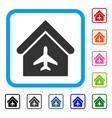 aircraft hangar framed icon vector image