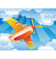 Airplane in the Sky3 vector image vector image
