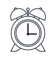 alarm clock school time hour image vector image