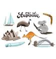 australia symbols vector image vector image