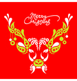 Background with Christmas deer vector image vector image
