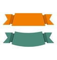 Banner ribbons icon flat style vector image