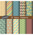 basic pattern unit collection 1 vector image vector image