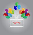 birthday background with flying balloons border vector image vector image