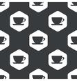 Black hexagon cup pattern vector image