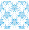 blue and white oriental seamless pattern vector image