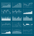business data financial charts stock analysis vector image vector image